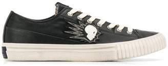 John Varvatos skull embroidery sneakers