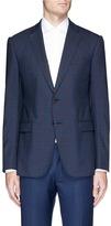 Armani Collezioni 'Metropolitan' check plaid virgin wool blazer