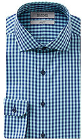 Murano Checked Slim Fit Cutaway Collar Dress Shirt