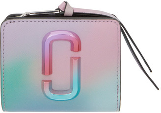 Marc Jacobs Multicolor Airbrush Mini Snapshot Compact Wallet