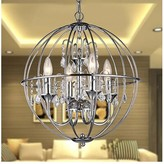 House Of Hampton Scottsmoor 4 - Light Candle Style Globe Chandelier with Wrought Iron Accents House of Hampton