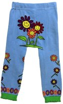 "SNOW ""Happy Flowers"" Baby Girl Leggings - - Soft and Cute Breathable Cotton Baby Clothes"