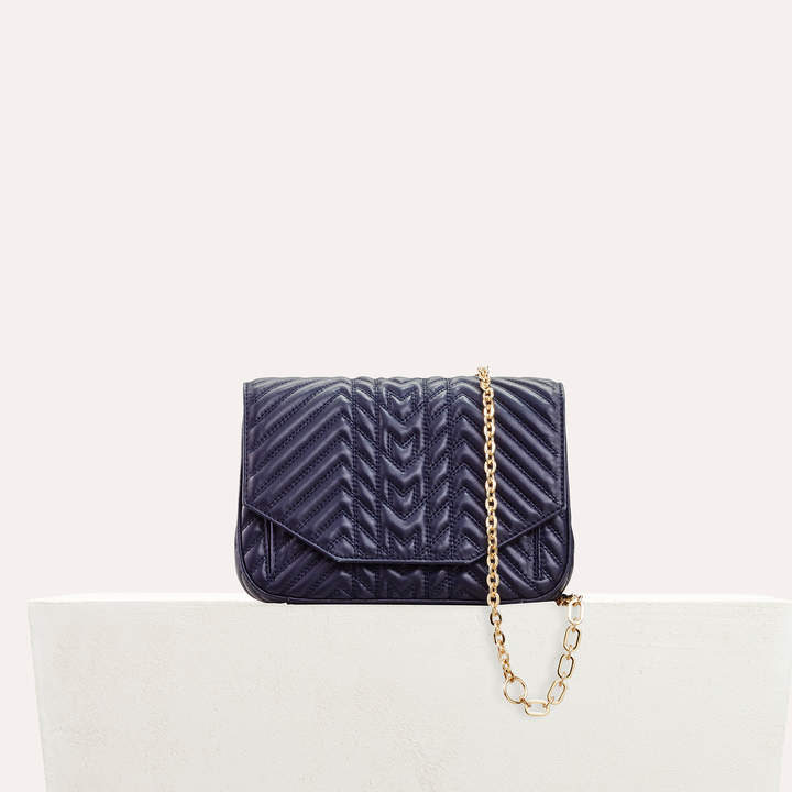 Maje Quilted leather evening bag