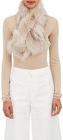 Barneys New York Women's Fur Pull-Through Scarf-TAN