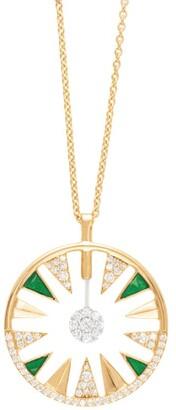 Alessa Yellow Gold and Diamond Clique Orbit Necklace