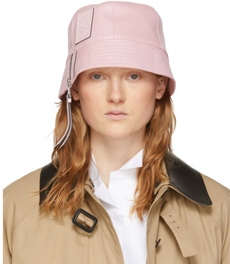 Loewe Pink Leather Bucket Hat
