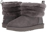 UGG Fluff Mini Quilted (Charcoal) Women's Pull-on Boots