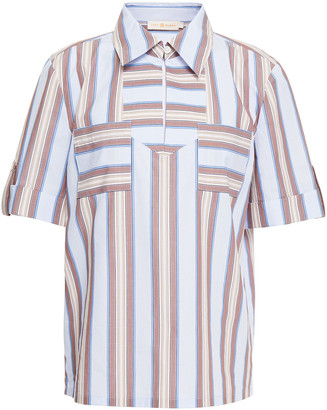 Tory Burch Striped Cotton-poplin Shirt