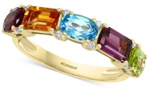 Effy Multi-Gemstone (2-5/8 ct. tw.) and Diamond (1/20 ct. t.w.) Ring in 14k Gold