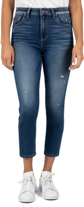 KUT from the Kloth Naomi Girlfriend Ankle Straight Leg Jeans
