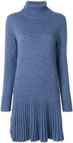 Chloé high-neck ribbed dress - women - Cotton/Cashmere - XS