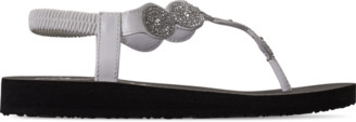 Skechers Women's Cali Meditation - Stars and Sparkle Strappy Flip Flop Sandals