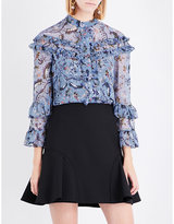 Erdem Paisley Vine-printed silk-crepe de chine blouse