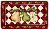 Nourison 2-Foot 6-Inch x 1-Foot 6-Inch Pears Kitchen Rug in Red