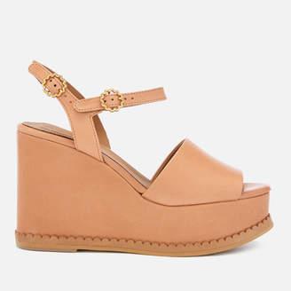 See by Chloe Women's Carrie Leather Wedge Sandals - Sierra