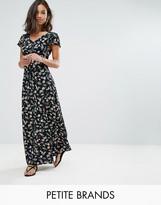 Yumi Petite Maxi Dress In Small Floral Print