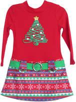 LILT Lilt Long Sleeve Drop Waist Dress - Toddler Girls