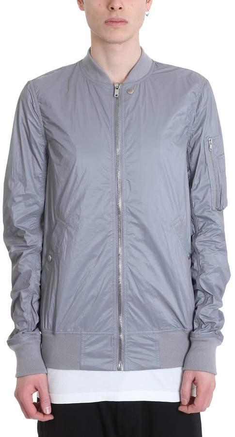 Drkshdw Grey Nylon Flight Jacket