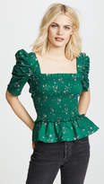 Amanda Uprichard Puff Sleeve Top