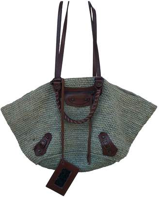 Balenciaga Panier Green Wicker Handbags