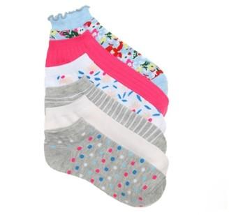 Kelly & Katie Floral Stripe Women's No Show Socks - 6 Pack