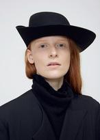 Yohji Yamamoto Black Folded Blocking Hat