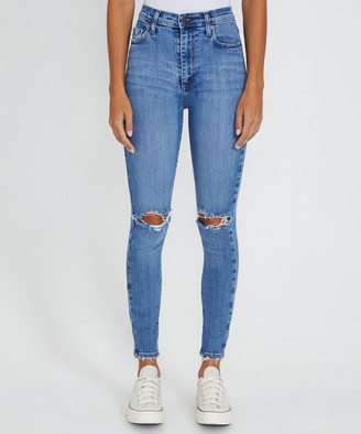 Nobody Siren Skinny Ankle Jeans Ritual Blue