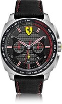Ferrari Aero Evo Silver Tone Stainless Steel Case and Black Nylon Strap Men's Watch