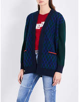 Sandro Embroidered Wool-blend Cardigan