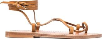 K. Jacques Wrap Ankle Sandals