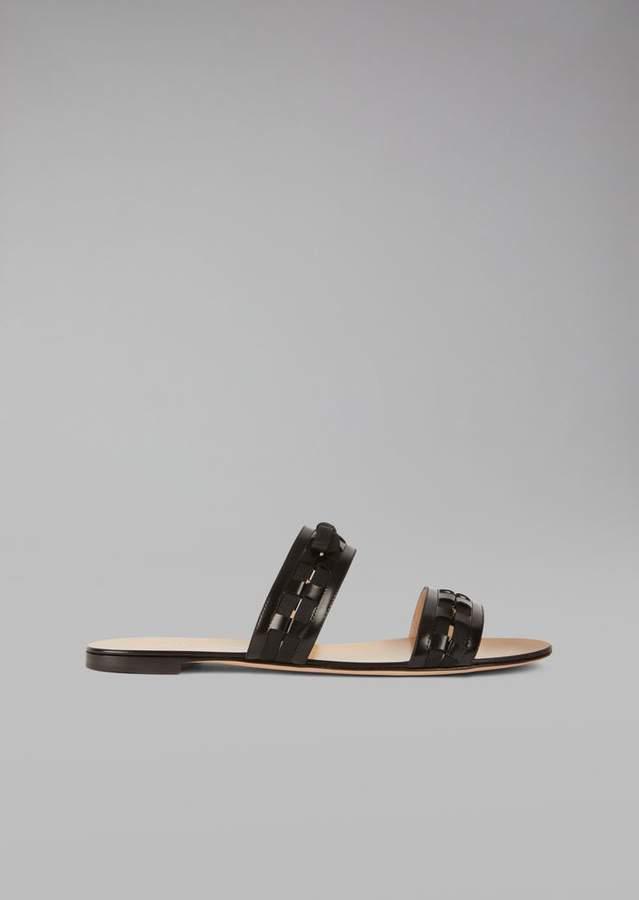 Giorgio Armani Sandals In Patent Leather