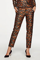 Lands' End Women's Skinny Pants-Gold Floral