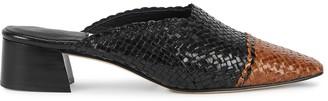 Miista Vivyan 40 Black Woven Leather Mules