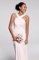 Monique Lhuillier Bridesmaids Crisscross Chiffon Gown (Nordstrom Exclusive)