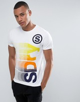 Superdry T-Shirt With Large Faded Logo Print