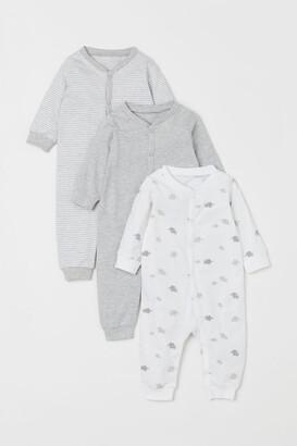 H&M 3-Pack Cotton Pyjamas