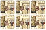 Pimpernel The French Cellar Square Coasters (Set of 6)