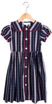 Rachel Riley Girls' Striped Button-Up Dress w/ Tags