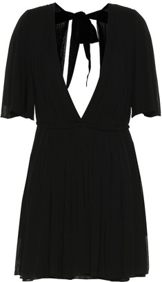 Saint Laurent Crepe jersey minidress