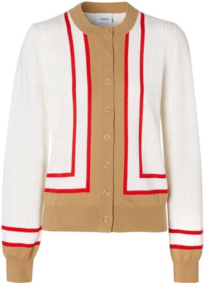 Burberry Archive Society intarsia cardigan