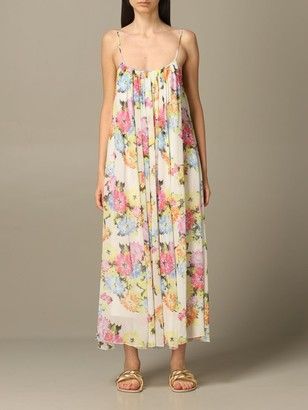 Be Blumarine Dress In Floral Patterned Chiffon