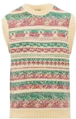 Acne Studios Krog Jacquard Stripe Knitted Tank Top - Mens - Yellow Multi
