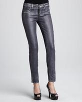 J Brand Jeans Coated Metallic Jeggings, Purple Bullet