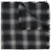 Saint Laurent raw edge checked scarf