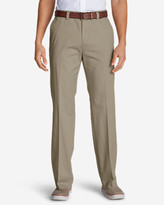 Eddie Bauer Men's Wrinkle-Free Classic Fit Flat-Front Casual Performance Chino Pants