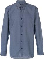 Z Zegna triangle micro print shirt