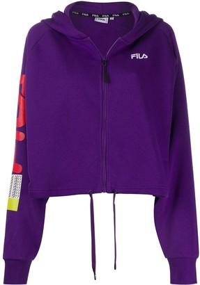 Fila Drawstring-Waist Hooded Logo Sweatshirt