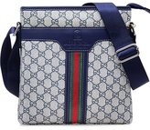 GUGGE Men's New British Retro Printing Leisure Bags Messenger Black