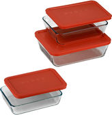 Pyrex Value Pack 6-pc. Rectangular Food Storage Set