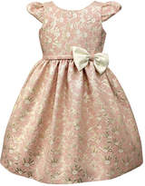 Jayne Copeland Pink Floral Bow-Accent Cap-Sleeve Dress - Toddler & Girls